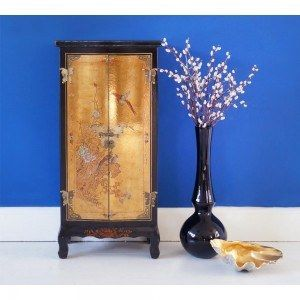 Madame Butterfly Chinese Oriental Cabinet