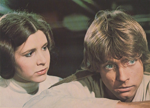 Princess Leah and Luke Skywalker