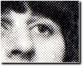 A single colour halftone image in Black Ink (with halftone dots visible).