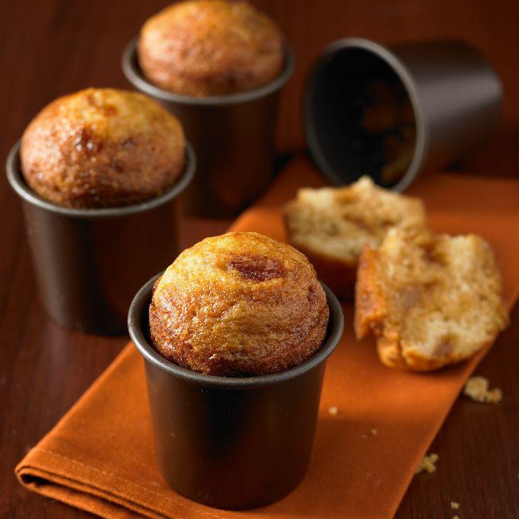 Découvrez la recette muffin pommes caramel sur cuisineactuelle.fr.