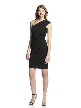 67% OFF Aida Women's One Shoulder Jersey Dress (Black)