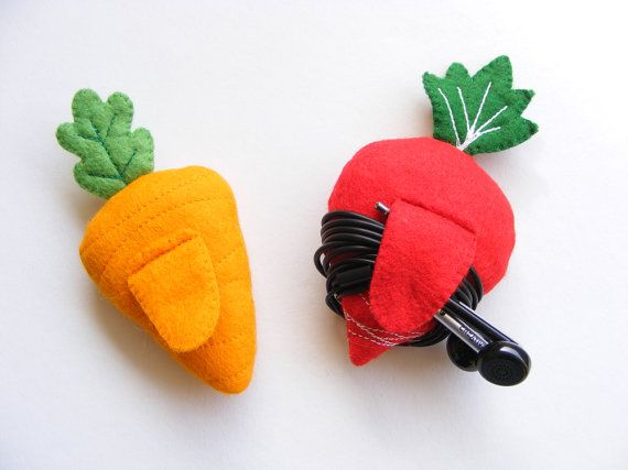 PDF pattern Carrot & radish earphones holders cute by iManuFatti
