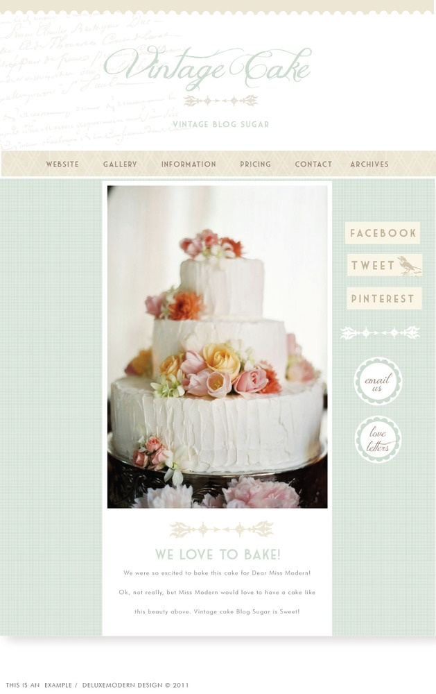 Oooh, may need a design like this. SALE Blog Sugar: Vintage Cake by
