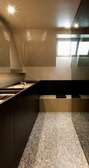 ♂ Contemporary interior bathroom nterieurarchitect Frederic Kielemoes
