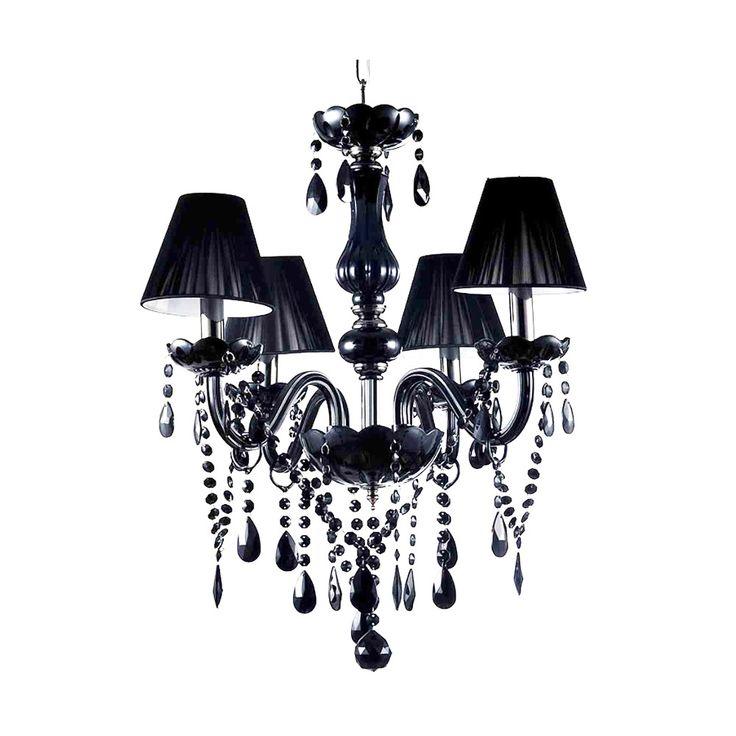 lampadario moderno candelabro nero : Lampadario nero con pendenti