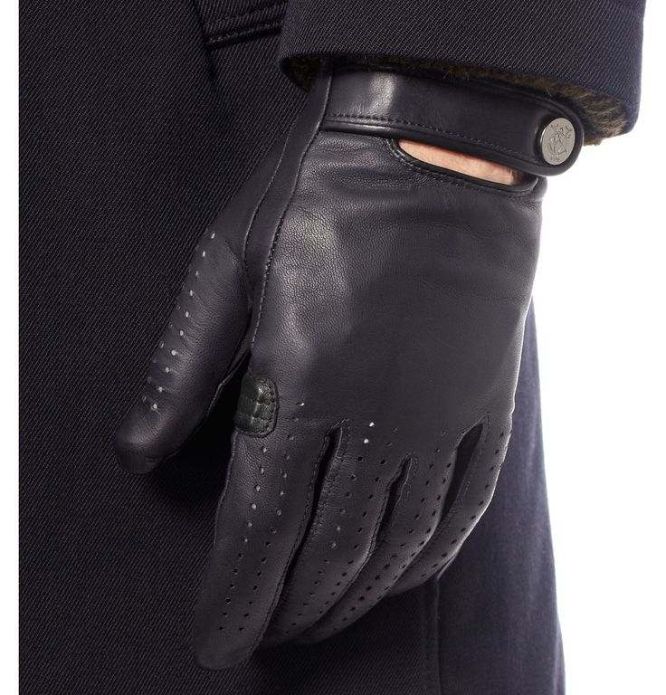 Alfred Dunhill Perforated Leather Driving Gloves   MR PORTER