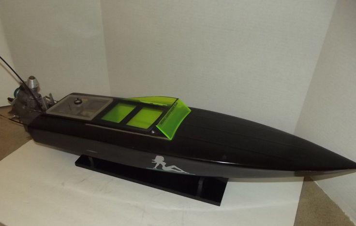 "Vintage R/C Nitro Speed Boat Kyosho Pro 21R Gas Motor 39"" long #Kyosho"