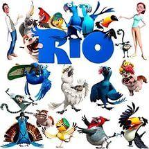 Рио 2: мультфильм - подборка клипартов для распечатки, декор к празднику, очень много картинок