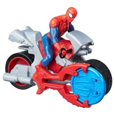 Marvel Spider-Man Blast N' Go Racer Spider-Man Action Figure with Cycle