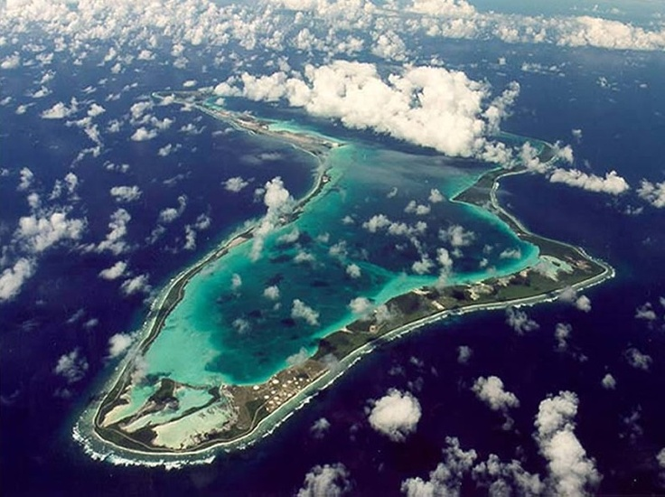 Diego Garcia - a small British island about 1,000 miles south of the tip of India