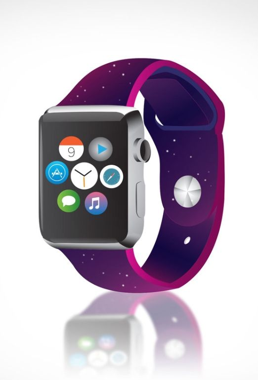 A galaxy-themed Apple Watch wristband concept.