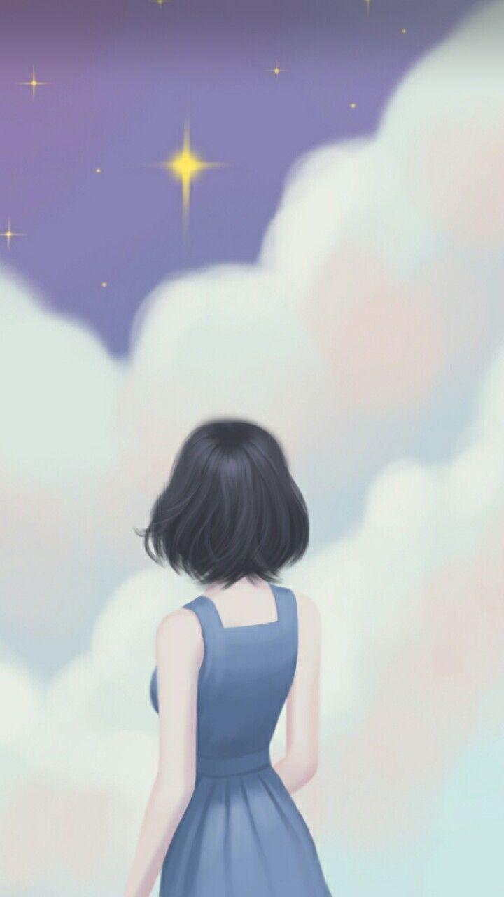 Cute Art Illustration Art Girl Anime Wallpaper Iphone