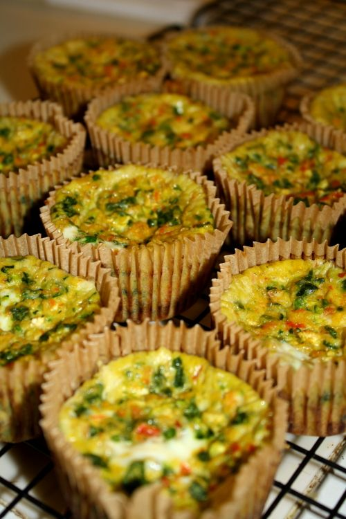 Paleo Egg Cupcakes- for some reason, the middle of my egg hallowed out. I won't make these again-LS