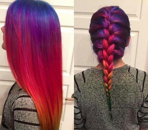 Картинки по запросу Разноцветные волосы