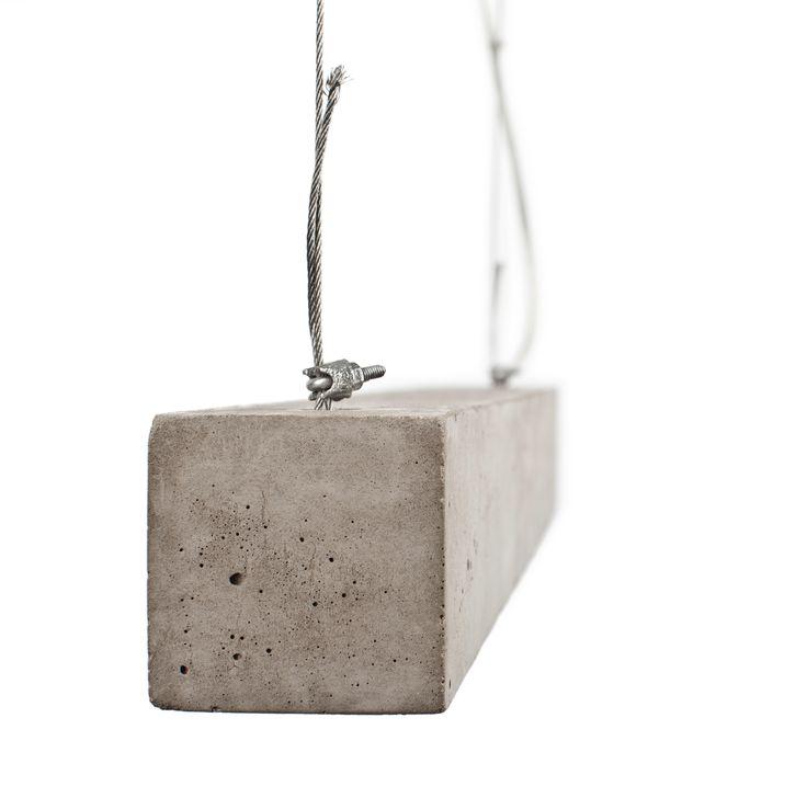 Hard Concrete Lady_simple, modern concrete lamp_design by Anna Szuflicka_photo by Andrzej Juraszczyk