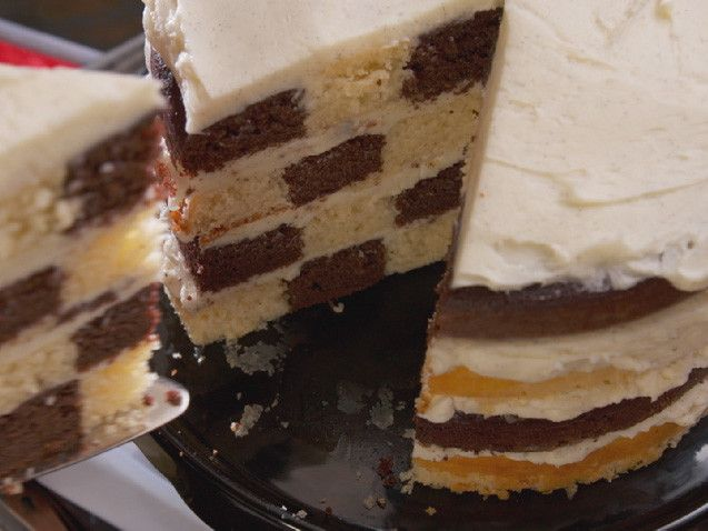 Chocolate and Vanilla Checkered Flag Cake