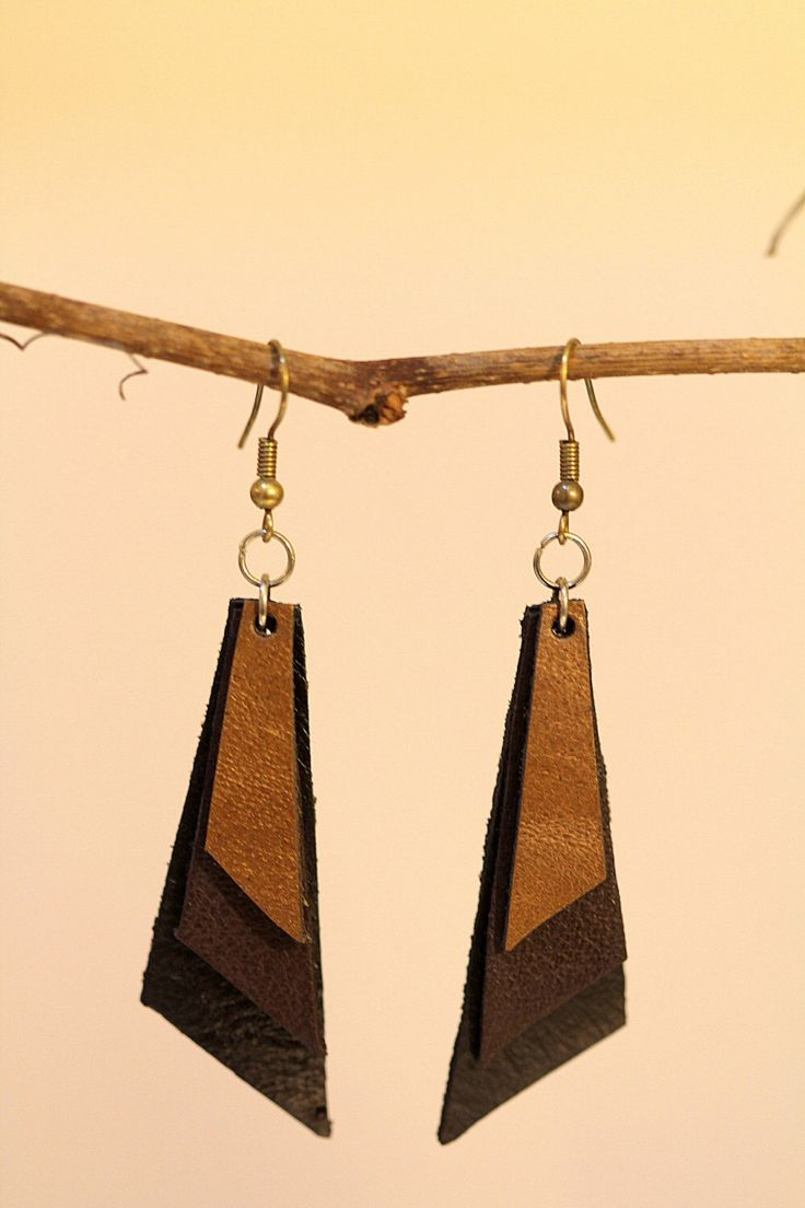 FREE SHIPPING handmade leather earrings womens leather jewelry by OLDU on Etsy https://www.etsy.com/listing/220962812/free-shipping-handmade-leather-earrings