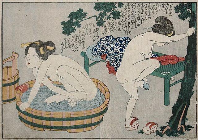 Women bathing 行水