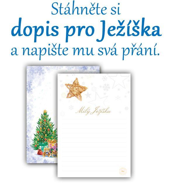 Dopis pro Ježíška je vánoční tradice, kterou milují nejen děti, ale tu a tam i dospělí. Možná, že i vy se vzpomínáte jak jste dopisy psali, večer je dávali na okno, aby si pro něj mohl JEžíšek přijít a splnit vám tak vaše tajná přání. Možná to byly panenka, medvídek, autíčko, stavebnice, vláčky nebo knihy... v každém případě to byla vaše sny a vy je tak mohli poslat Ježíškovi a tajně si přát, aby vám nadělil to co jste si přáli. Zde si můžete stáhnout dopis pro Ježíška, vytisknout a nechat…
