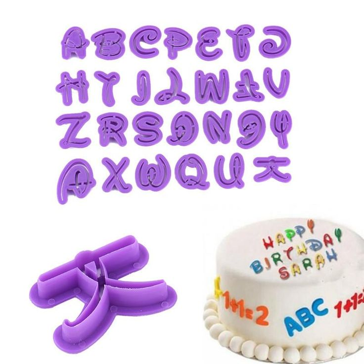 Mickey Mouse Font Alphabet & Number Set Fondant Mold Tool