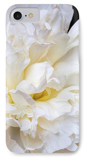 Jane Star IPhone 7 Case featuring the photograph Foamy Sea Wave by Jane Star  #JaneStar #IPhoneCase #Peony #Flower #White