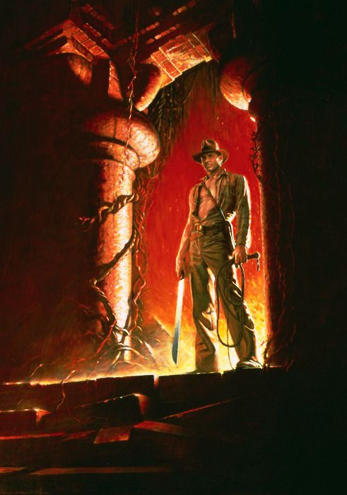 Indiana Jones and the Temple of Doom - Original Teaser Poster   Art by Drew Struzan - website: www.DrewStruzan.com
