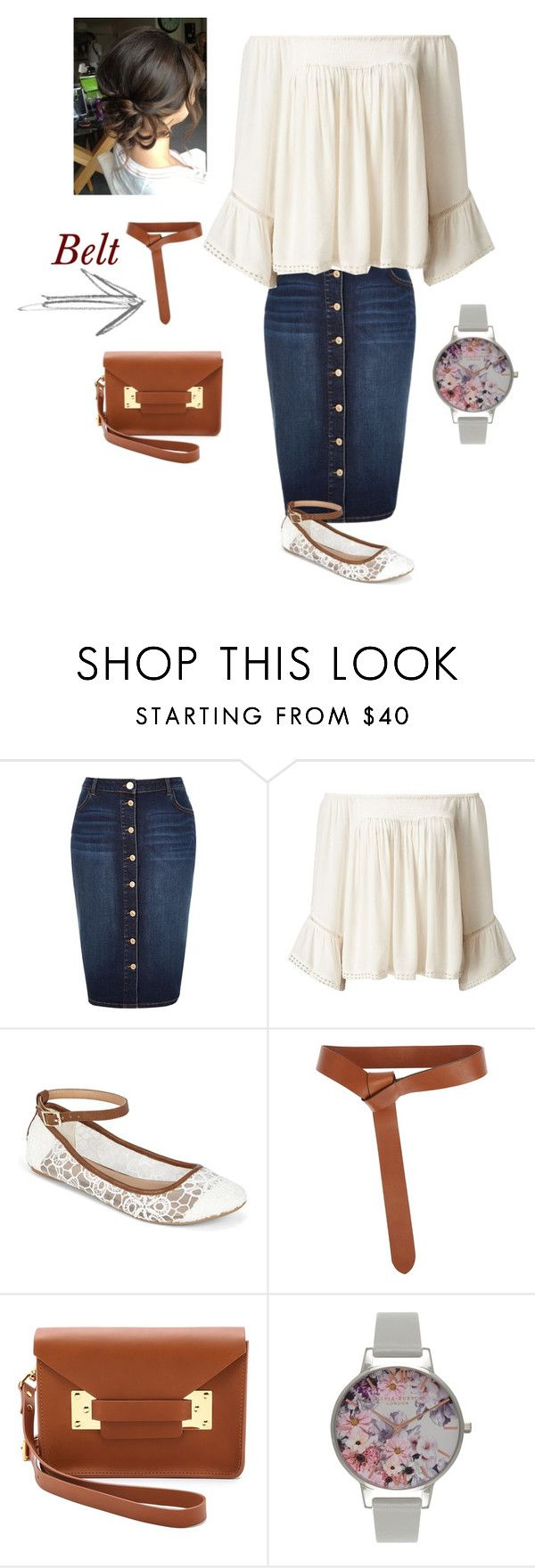 """Untitled #865"" by bye18 ❤ liked on Polyvore featuring River Island, Miss Selfridge, Call it SPRING, Iris & Ink, Sophie Hulme and Olivia Burton"
