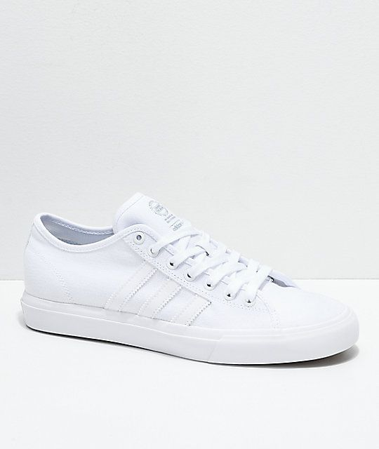 ec873eb8e5e3ea adidas Matchcourt RX All White Canvas Shoes