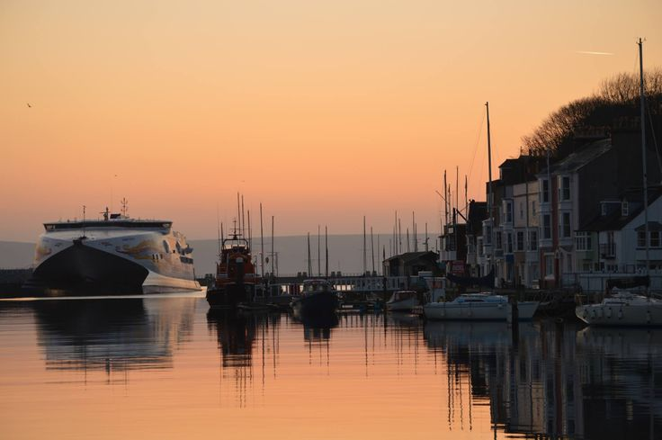Weymouth Harbour, early morning.