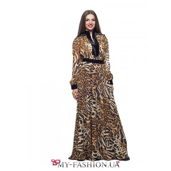 Леопардовое платье большого размера