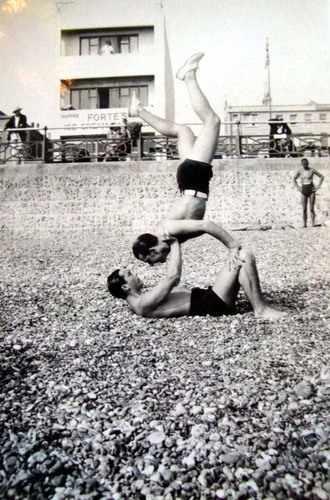 Vintage photo of Hove beach