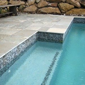 grey glass mosaic pool tiles - Google Search