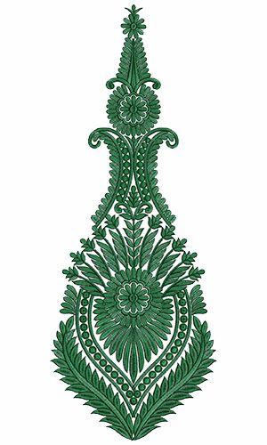 9719 Anarkali Embroidery Design