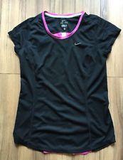 Nike Running Womens Short Sleeve Shirt M Black DRI FIT | eBay