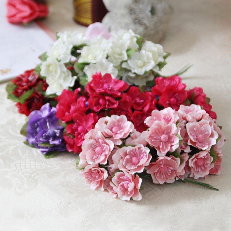 Goedkope Gratis Verzending 2 3 cm hoofd Multicolor Moerbei Boeket/draad steel/Scrapbooking kunstmatige bloemen (36 stks/partij), koop Kwaliteit Decoratieve bloemen& kransen rechtstreeks van Leveranciers van China: meer Voorzichtig en Meer hardwerkende zou krijgen meer Klanten gunstlengte: ca. 10 cmLet:als u de Producten die u
