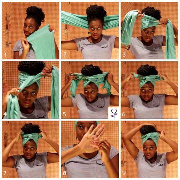 Turbante con extensiones crochet braids