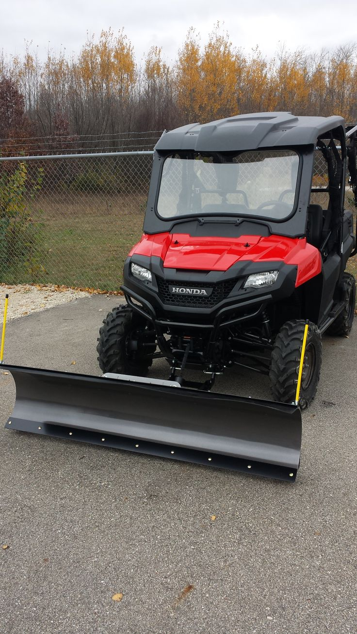 "Honda Pioneer UTV with Open Trail KFI 72"" Snow Plow and KFI 4500# stealth winch."