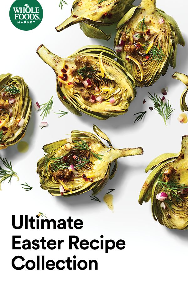 Pull off a flawless Easter meal with 10 quintessential recipes from Whole Foods Market. Start off with addictive apps like Creamy Cucumber Chive Cups and impress with a twist on a classic: Honey-Glazed Ham with Fresh Pineapple Chutney. Dinner is served.