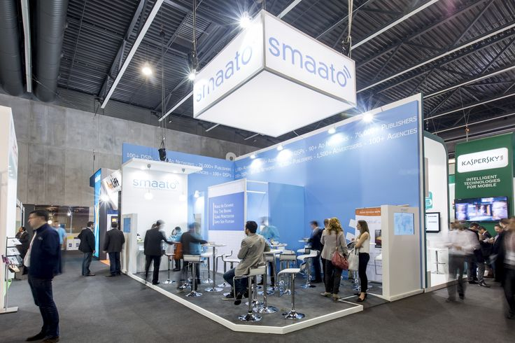 SMAATO MWC BARCELONA 2014 40m2 PRO EXPO Trade show booth builders