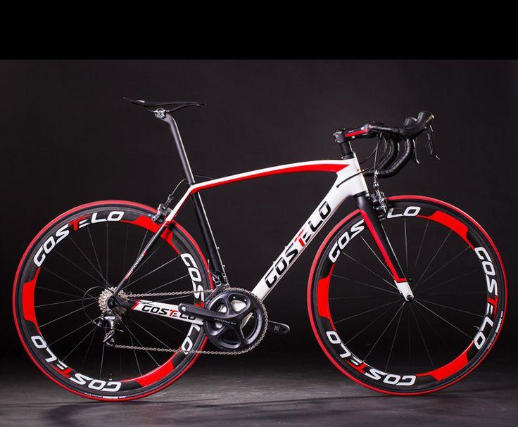 2015 Costelo RIO complete carbon road bike carbon fiber bike complete bicycle cycing bike UD frame wheels 6870DI2 bar stem