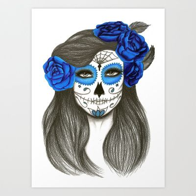 Sugar Skull Art Print by Lidiane Dutra - $17.68