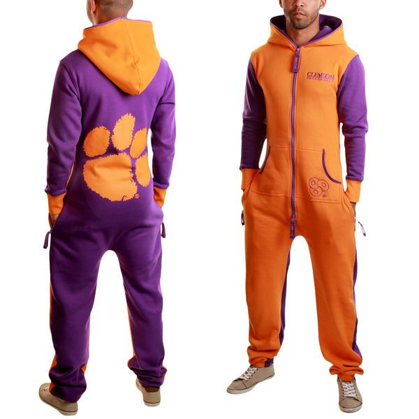 Clemson Tigers Zooop Full Zip Fleece Jumpsuit - Orange - $112.99