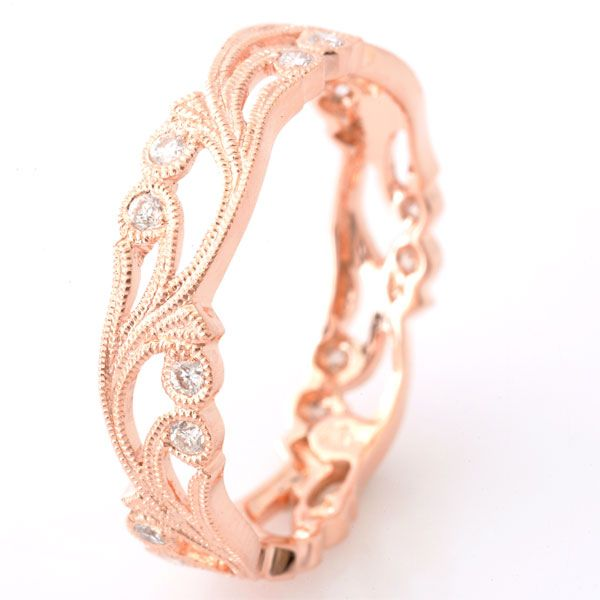 Diamond Floral Ring in Rose Gold Rose Gold Diamond Floral Ring [708] : Audrey Bull