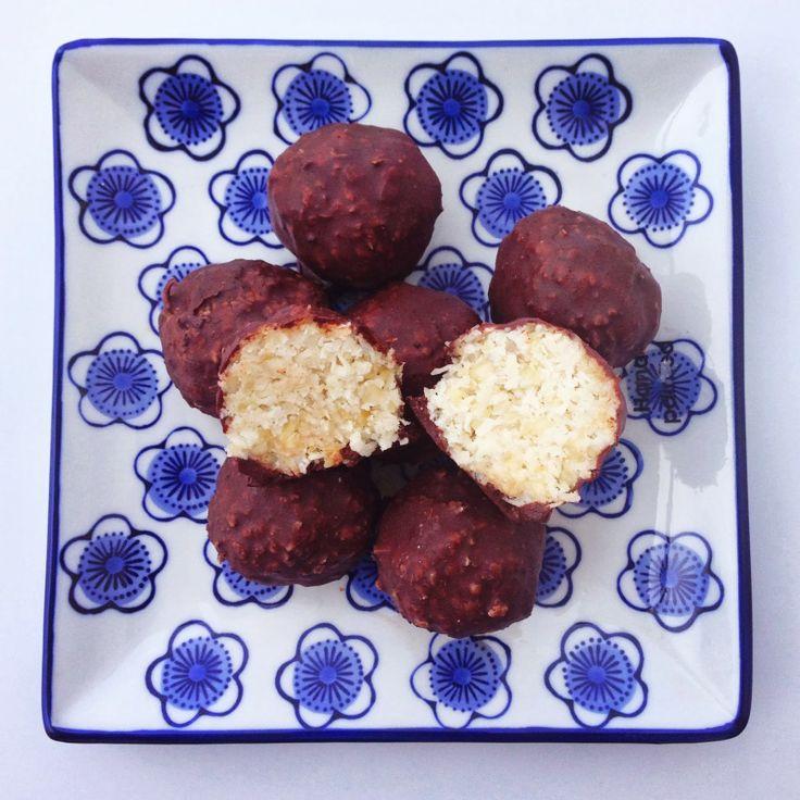 Raw Chocolate Bounty Balls  raw food, gluten free, dairy free, sugar free, healthy, thermomix, recipe, rawesome, nutrition, no baking, healthy treats