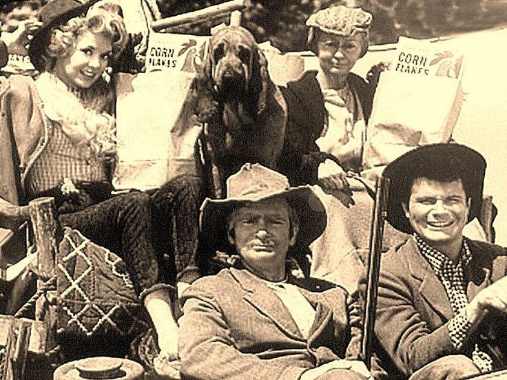 Black gold....Texas tea....  cast of the show -   the-beverly-hillbillies photo