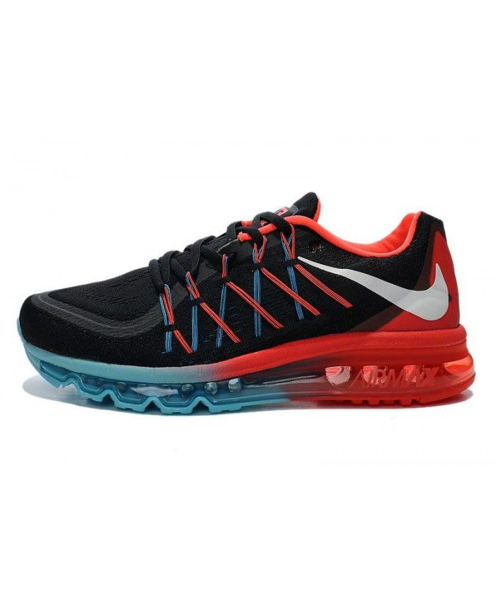 Homme Nike Air Max 2015 Noir Bleu Fire Rouge Chaussures