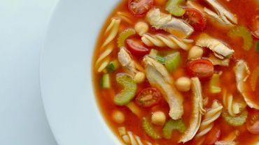 Image for Mediterranean chicken noodle soup