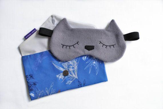 Masque de nuit / Masque de sommeil chat réversible par FunkySunday