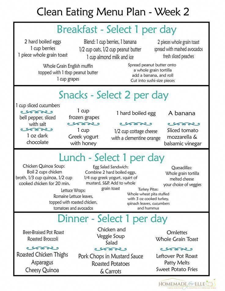 Clean Eating Meal Plan 100 Free Includes Breakfast Lunch Dinner Snacks Clean Eating Menu Clean Eating Diet Plan Clean Eating Meal Plan
