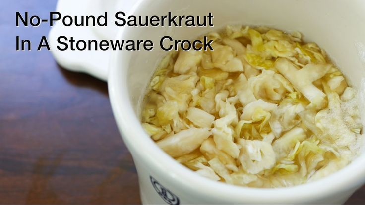 No Pound Sauerkraut In A Stoneware Crock